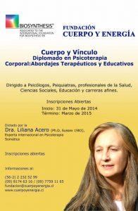 Diplomado en Psicoterapia Corporal - Cuerpo y Vínculo