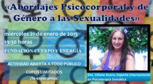 """Conferencia Magistral: """"Abordaje Psicocorporal y de Género a las Sexualidades"""""""