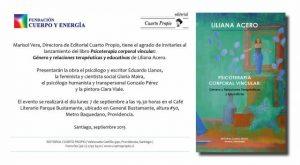 """Lanzamiento de: """"Psicoterapia Corporal Vincular: Género y Relaciones Terapéuticas y Educativas"""""""
