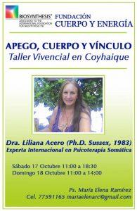 Taller abierto en Coyhaique, Ph. D. Liliana Acero, 17 y 18 de Octubre